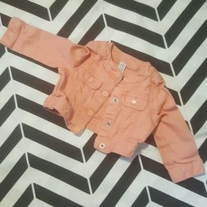 Baby Gap Coral/Dusty Peach Jean Jacket, 6-12 mo